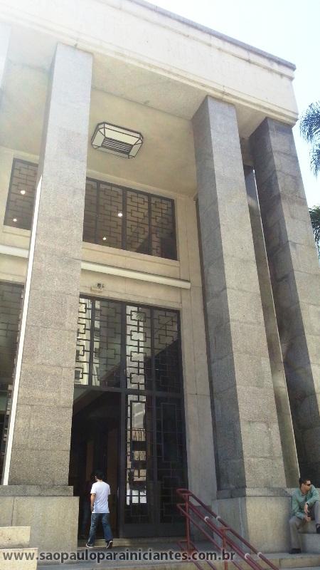 Fachada Biblioteca Mário de Andrade