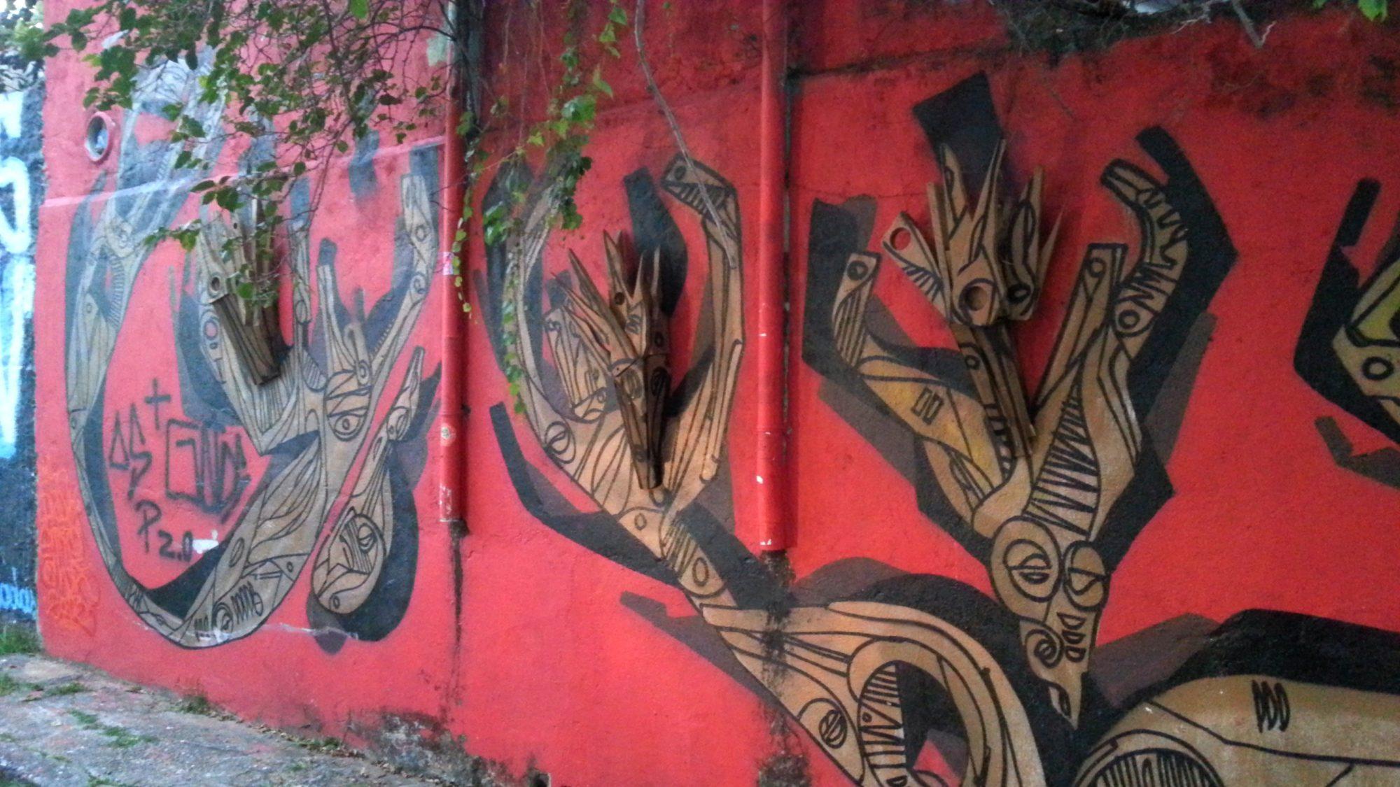 muro vermelho