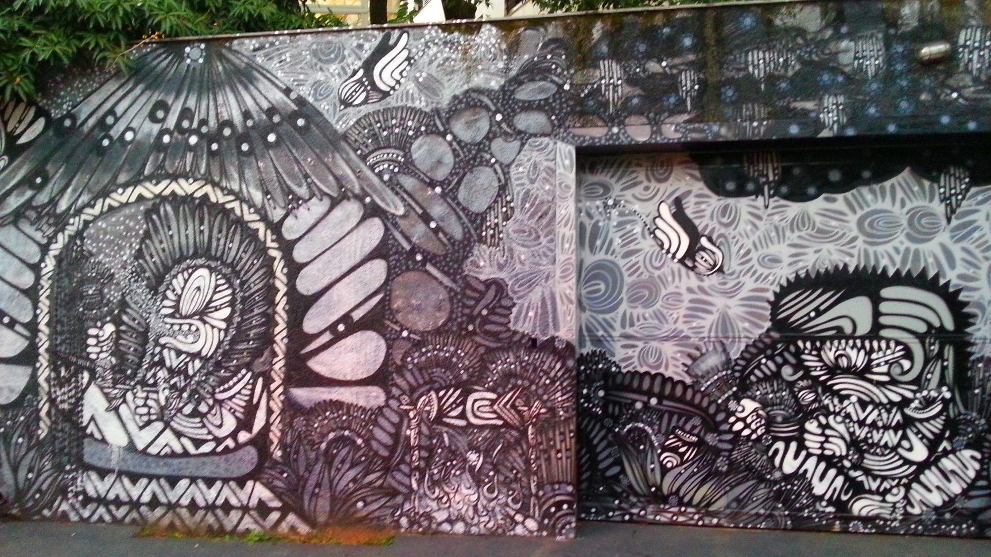 graffiti preto e branco