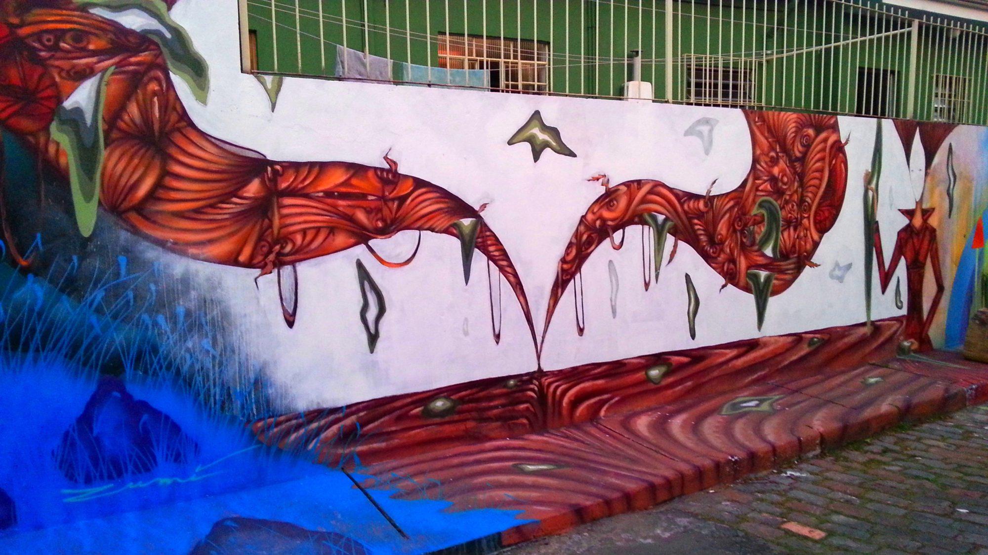 graffiti na calçada