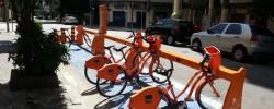 bicicleta laranja