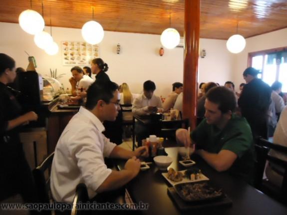 almoço executivo no sushi kaminari