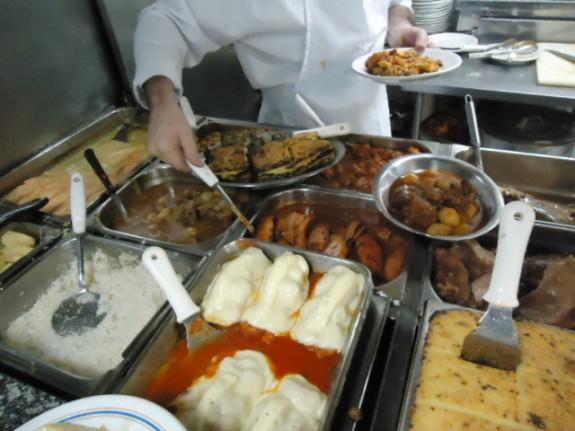 Comida do restaurante Acrópoles
