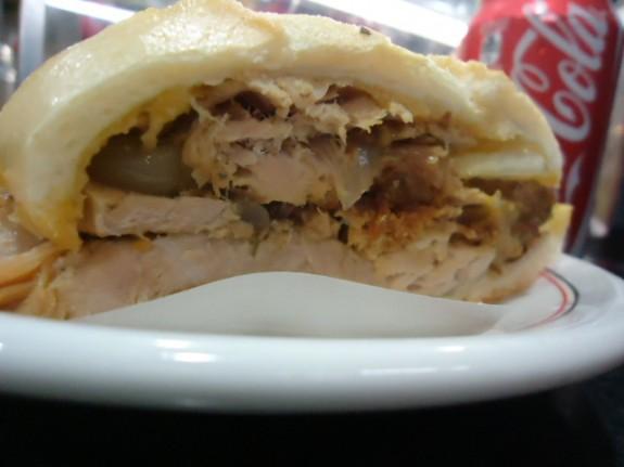 Sanduíche de peru do Estadão
