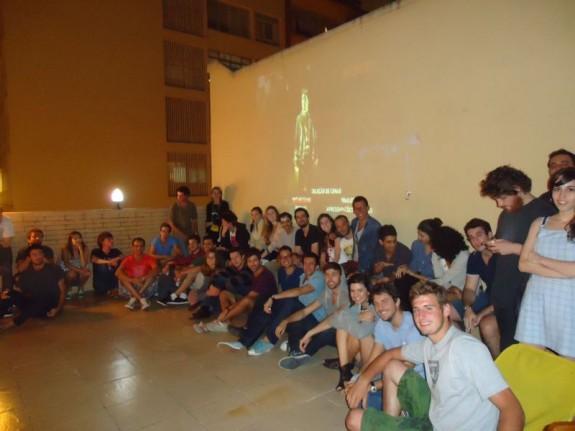 turma no cinecentro no dia 5 de março de 2012