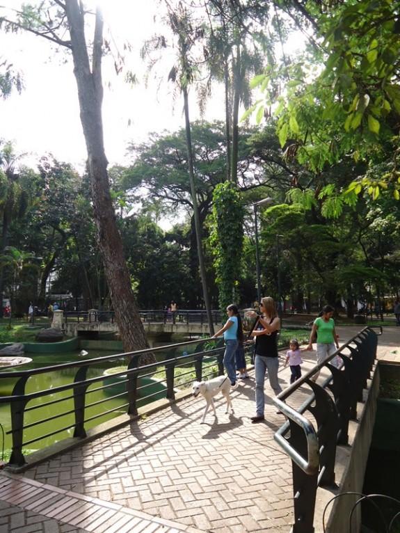 Praça da República no domingo