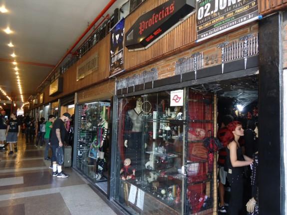 lojas da Galeria do Rock