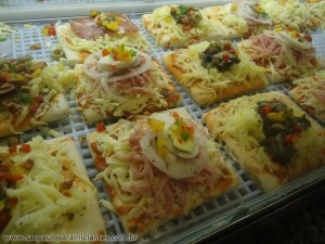 mini pizza quadrada