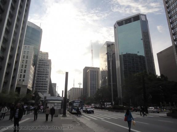 Sunset on Paulista avenue