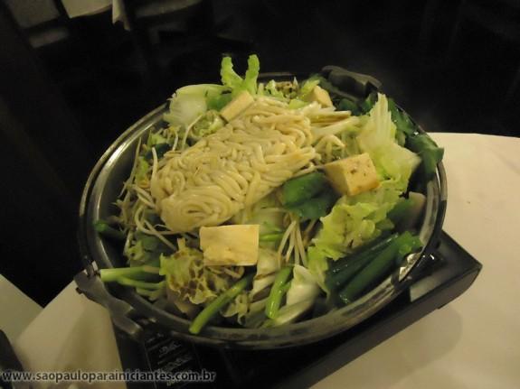 começando o sukiyaki