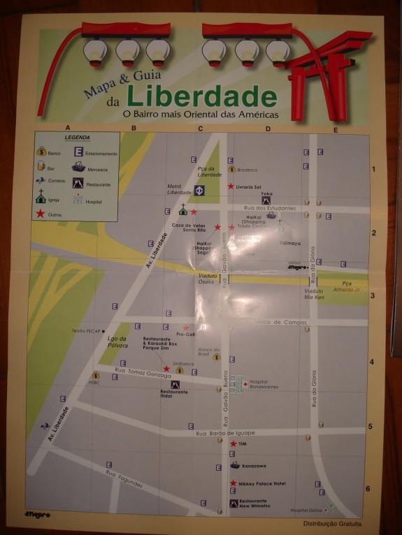Mapa do Bairro da Liberdade