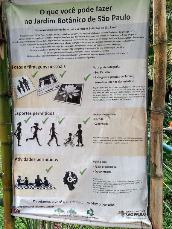 regras jardim botanico