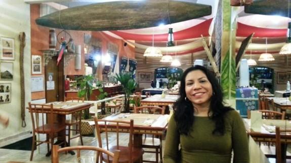 Dayse no Restaurante Amazonia