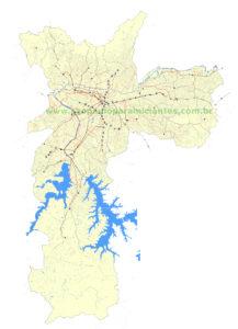 mapa sao paulo onibus metro e ciclovia